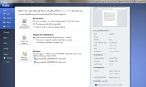 Nowe menu przycisku pakietu Office 2010