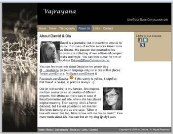 Vajrayana - jeden z modułów anglojęzycznej wersji strony