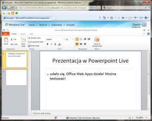 Office Web Apps ponownie online... super :)