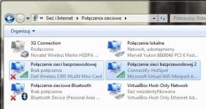 Virtual WiFi w Windows 7 oddaje do dyspozycji drugi logiczny kontroler sieci bezprzewodowej